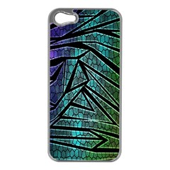 Abstract Background Rainbow Metal Apple Iphone 5 Case (silver) by Nexatart