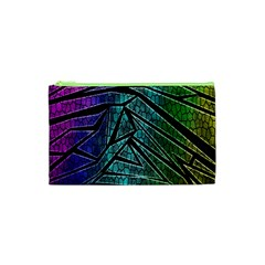 Abstract Background Rainbow Metal Cosmetic Bag (xs) by Nexatart