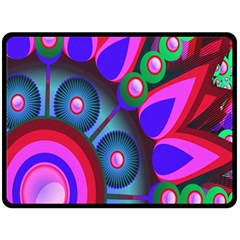 Abstract Digital Art  Double Sided Fleece Blanket (large)  by Nexatart