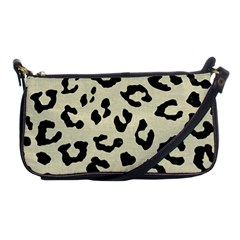 Skin5 Black Marble & Beige Linen Shoulder Clutch Bag by trendistuff