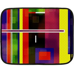 Abstract Art Geometric Background Double Sided Fleece Blanket (mini)  by Nexatart