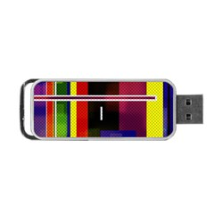 Abstract Art Geometric Background Portable USB Flash (Two Sides) by Nexatart