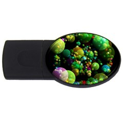 Abstract Balls Color About Usb Flash Drive Oval (4 Gb) by Nexatart