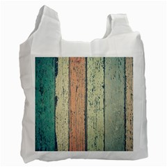 Abstract Board Construction Panel Recycle Bag (One Side) by Nexatart