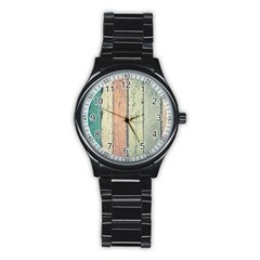 Abstract Board Construction Panel Stainless Steel Round Watch by Nexatart