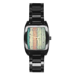 Abstract Board Construction Panel Stainless Steel Barrel Watch by Nexatart