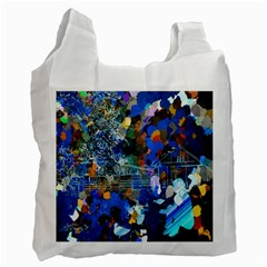 Abstract Farm Digital Art Recycle Bag (One Side) by Nexatart