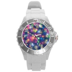 Abstract Background Graphic Design Round Plastic Sport Watch (l) by Nexatart