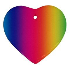 Abstract Rainbow Heart Ornament (two Sides) by Nexatart