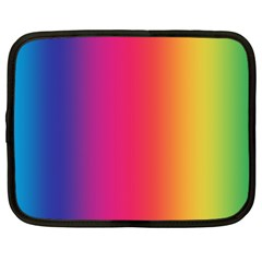 Abstract Rainbow Netbook Case (Large) by Nexatart