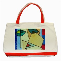 Abstract Art Face Classic Tote Bag (Red)