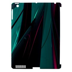 Abstract Green Purple Apple Ipad 3/4 Hardshell Case (compatible With Smart Cover) by Nexatart