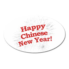 Happy Chinese New Year Design Oval Magnet by dflcprints