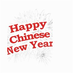 Happy Chinese New Year Design Small Garden Flag (two Sides) by dflcprints