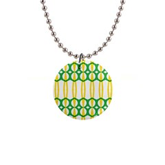Green Yellow Shapes                                                                                                                   			1  Button Necklace by LalyLauraFLM