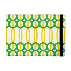 Green Yellow Shapes                                                                                                                  			apple Ipad Mini Flip Case by LalyLauraFLM