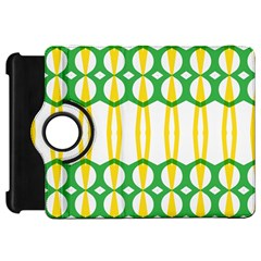 Green Yellow Shapes                                                                                                                  kindle Fire Hd Flip 360 Case by LalyLauraFLM