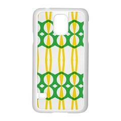 Green Yellow Shapes                                                                                                                  			samsung Galaxy S5 Case (white) by LalyLauraFLM