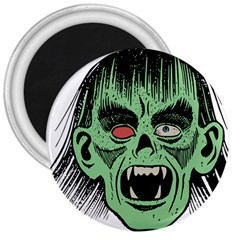 Zombie Face Vector Clipart 3  Magnets by Nexatart