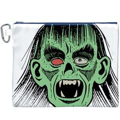 Zombie Face Vector Clipart Canvas Cosmetic Bag (xxxl) by Nexatart