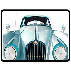 Oldtimer Car Vintage Automobile Double Sided Fleece Blanket (large)  by Nexatart