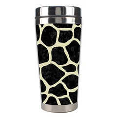 Skin1 Black Marble & Beige Linen (r) Stainless Steel Travel Tumbler by trendistuff
