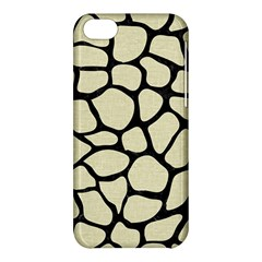 Skin1 Black Marble & Beige Linen Apple Iphone 5c Hardshell Case by trendistuff