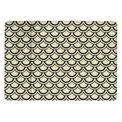 Scales2 Black Marble & Beige Linen (r) Samsung Galaxy Tab 10 1  P7500 Flip Case by trendistuff