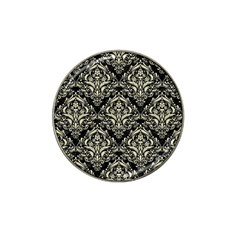 Damask1 Black Marble & Beige Linen Hat Clip Ball Marker (10 Pack) by trendistuff
