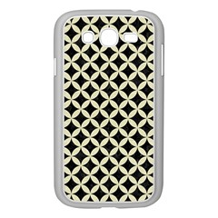 Circles3 Black Marble & Beige Linen Samsung Galaxy Grand Duos I9082 Case (white) by trendistuff