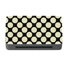 Circles2 Black Marble & Beige Linen Memory Card Reader With Cf by trendistuff