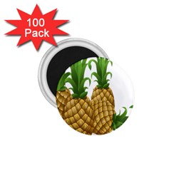 Pineapples Tropical Fruits Foods 1 75  Magnets (100 Pack)  by Nexatart