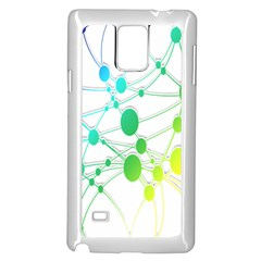 Network Connection Structure Knot Samsung Galaxy Note 4 Case (White) by Nexatart