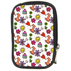 Doodle Pattern Compact Camera Cases by Nexatart