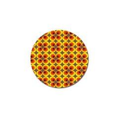 Seventies Hippie Psychedelic Circle Golf Ball Marker (10 Pack) by Nexatart