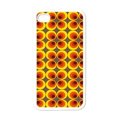 Seventies Hippie Psychedelic Circle Apple Iphone 4 Case (white) by Nexatart