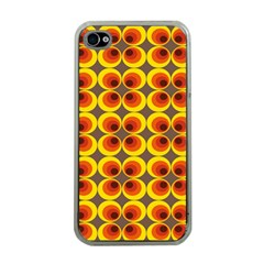 Seventies Hippie Psychedelic Circle Apple Iphone 4 Case (clear) by Nexatart