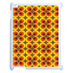 Seventies Hippie Psychedelic Circle Apple Ipad 2 Case (white) by Nexatart