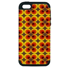 Seventies Hippie Psychedelic Circle Apple Iphone 5 Hardshell Case (pc+silicone) by Nexatart