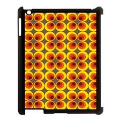 Seventies Hippie Psychedelic Circle Apple Ipad 3/4 Case (black) by Nexatart