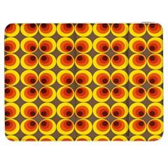 Seventies Hippie Psychedelic Circle Samsung Galaxy Tab 7  P1000 Flip Case by Nexatart