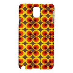 Seventies Hippie Psychedelic Circle Samsung Galaxy Note 3 N9005 Hardshell Case by Nexatart
