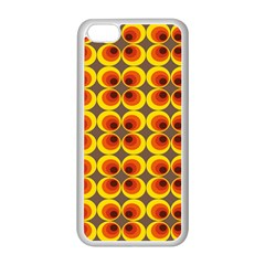 Seventies Hippie Psychedelic Circle Apple Iphone 5c Seamless Case (white) by Nexatart