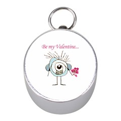 Valentine Day Poster Mini Silver Compasses by dflcprints
