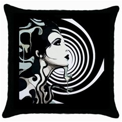 Spiral Throw Pillow Case by DryInk
