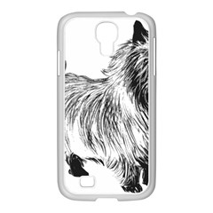Cairn Terrier Greyscale Art Samsung GALAXY S4 I9500/ I9505 Case (White)