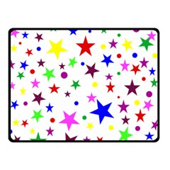 Stars Pattern Background Colorful Red Blue Pink Double Sided Fleece Blanket (small)  by Nexatart