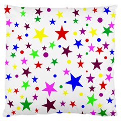 Stars Pattern Background Colorful Red Blue Pink Standard Flano Cushion Case (Two Sides) by Nexatart