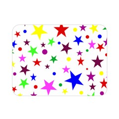 Stars Pattern Background Colorful Red Blue Pink Double Sided Flano Blanket (mini)  by Nexatart