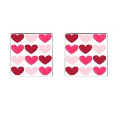 Valentine S Day Hearts Cufflinks (square) by Nexatart